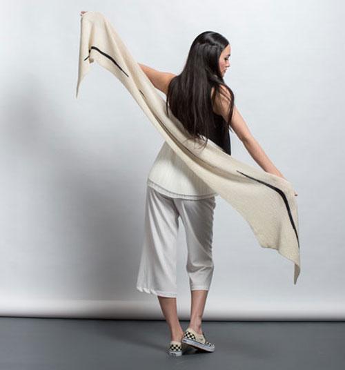 The Hanshi Knit Wrap pattern from knitscene Fall 2016