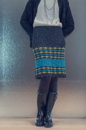 Striped Crochet Beachcomber Skirt