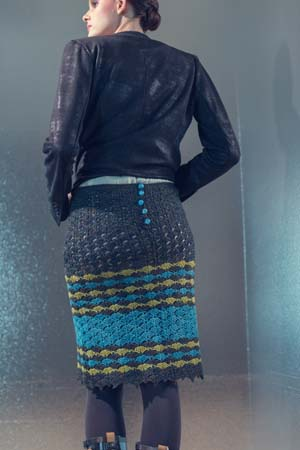 Back of Beachcomber Crochet Skirt