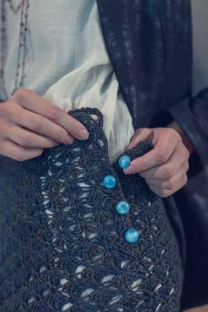 Buttons on Beachcomber Crochet Skirt