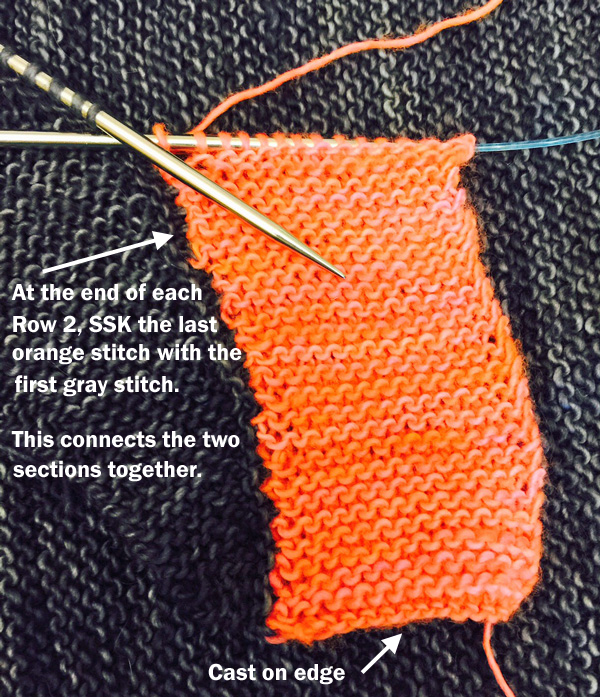 Beacon knit shawl tutorial