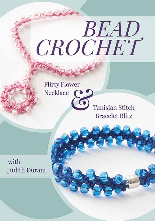 Tunisian Stitch and Bead Crochet, using beads with yarn projects.