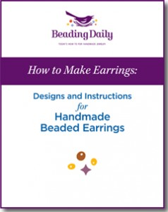 The How to Make Beaded Earrings free eBook features 6 handmade earring patterns.