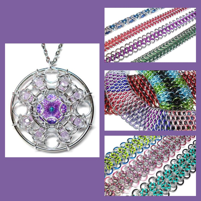 chain maille - New and Trendy in Jewelry Making for Bead Fest 2018