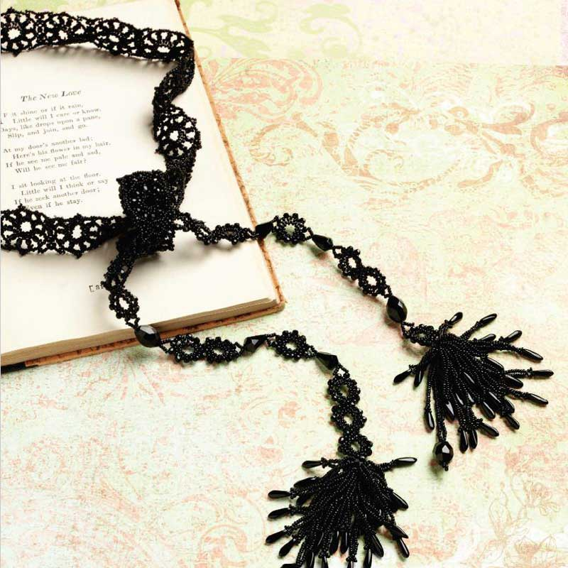 Bead Romantique by Lisa Kan - a book filled with romantic beaded jewelry designs. Black Lace Lariat