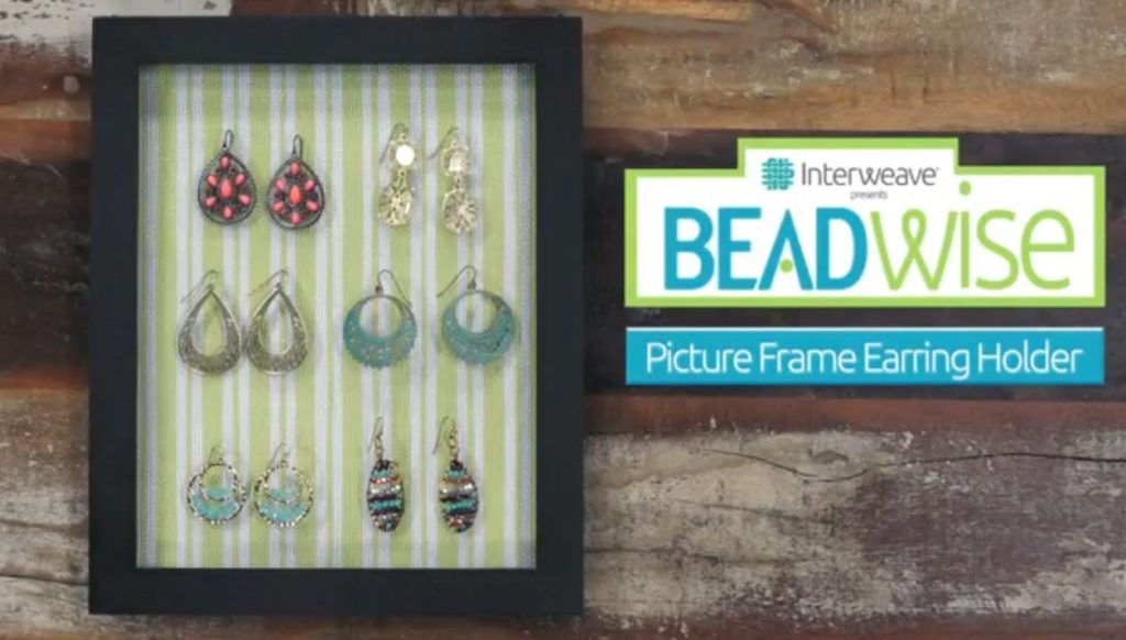 BeadWise: Make a Picture Frame Holder to Show off Your Earrings!