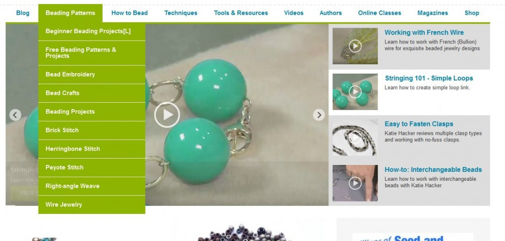 Beading Daily WP Launch Site Navigation Beading Patterns