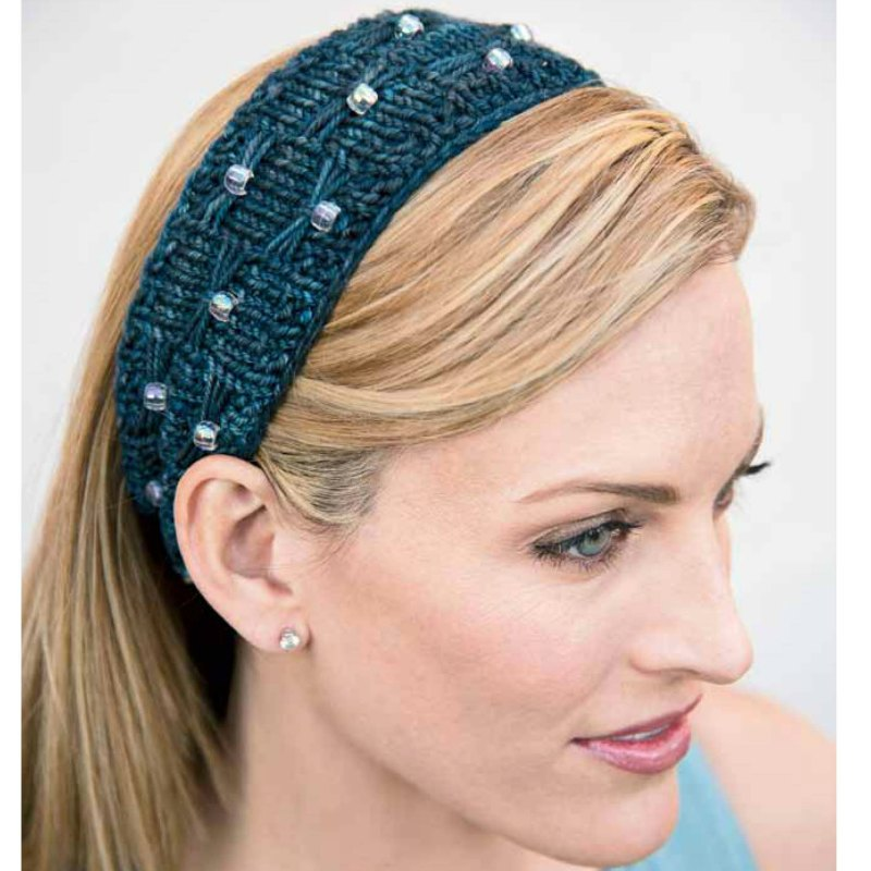 Free Knitting Pattern Beads And Bows Headband Interweave