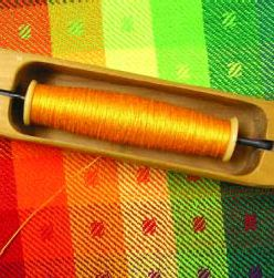 A tightly-wound bobbin