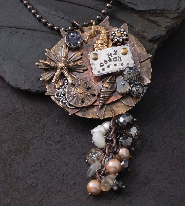 learn to make the riveted Beautiful Sea pendant by Tracy Stanley