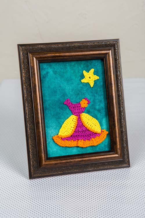 Belle Dress Framed Crochet