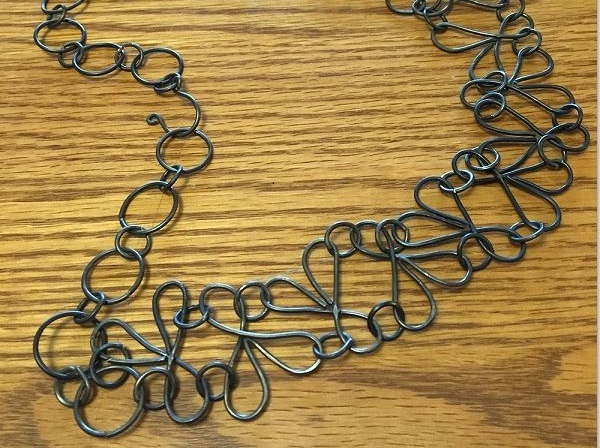 wire jig necklace by The Bench Artisans
