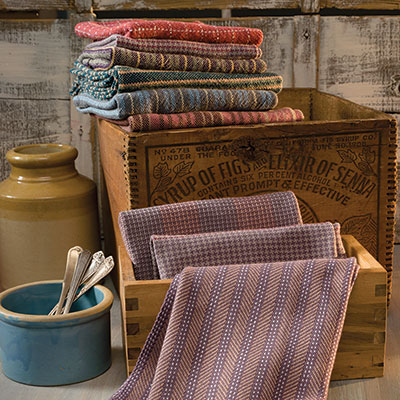 Ozark Quilter Towels by Marty Benson with Janet Giardina, Handwoven March/April 2016.  Photo credit: Joe Coca