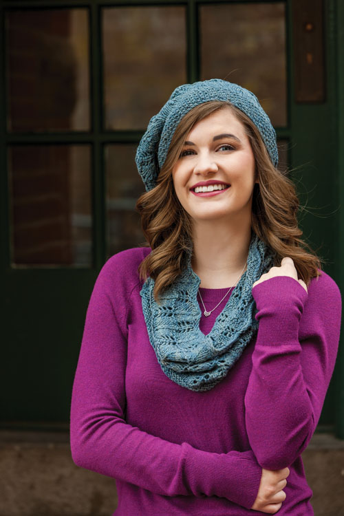 Peace Silk Beret and Cowl to Knit by Julie Trujoman