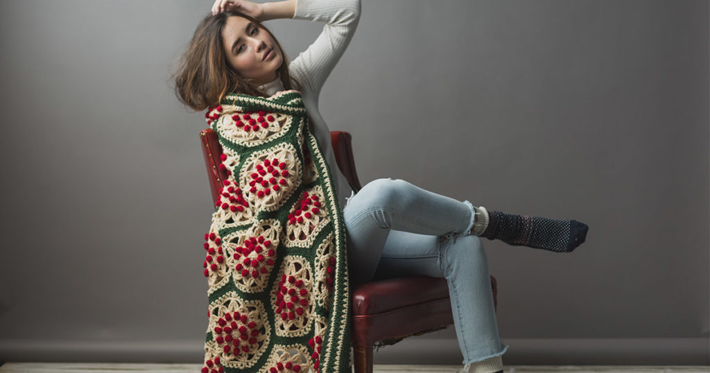 Project of the Week: Berry and Pine Afghan