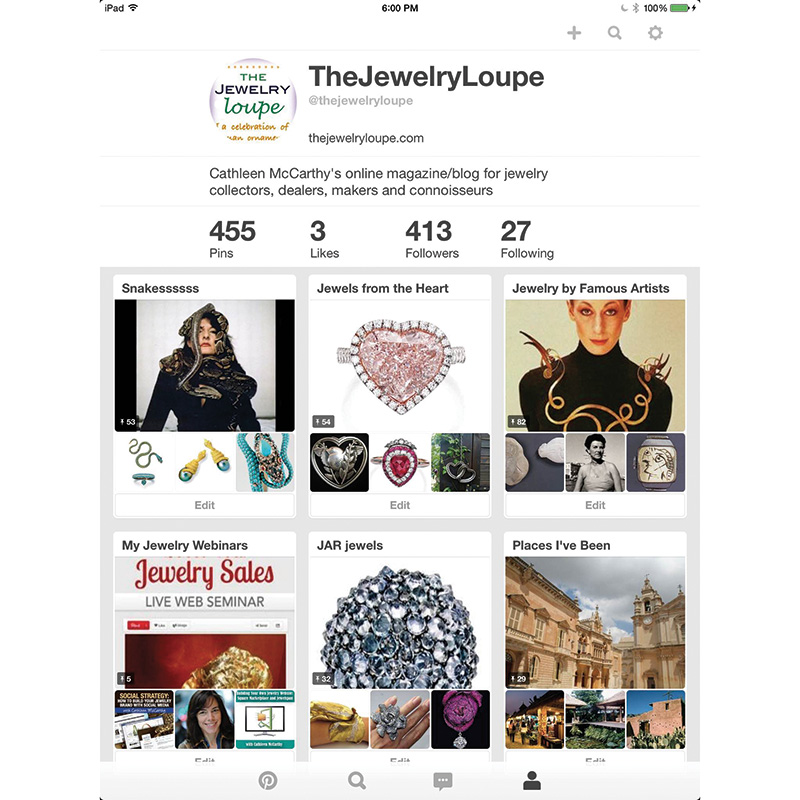 Using Pinterest to Promote Your Jewelry Business
