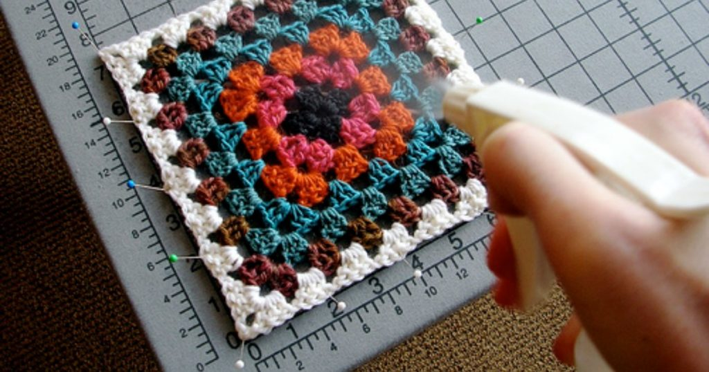 how to block crochet