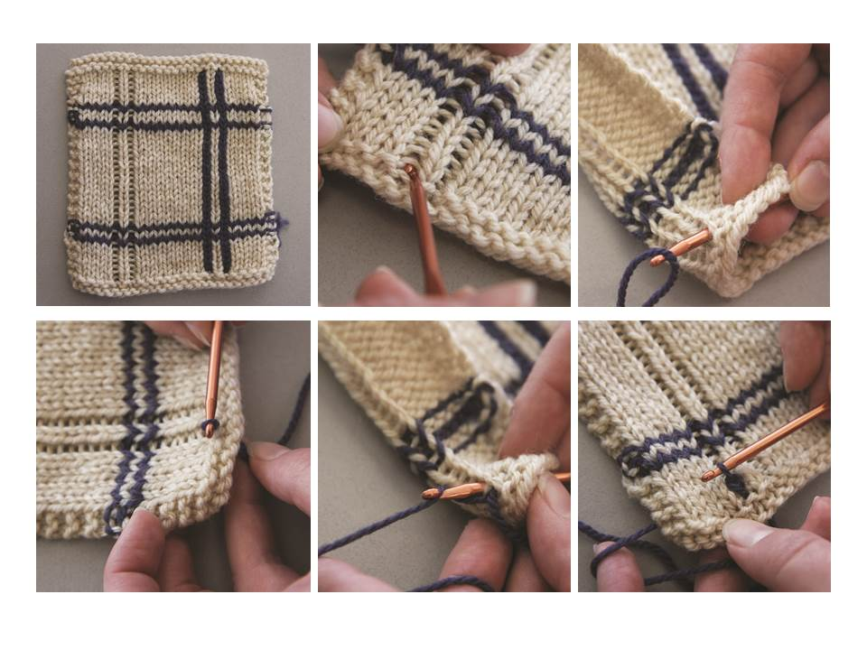 knit tutorial, crochet tutorial, making vertical stripes in knitting, slip-stitch vertical stripes