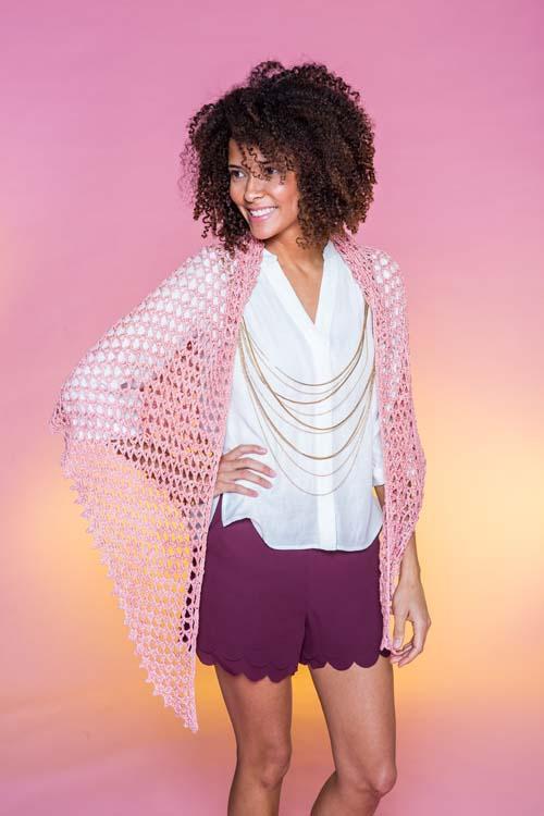 Blush Shawl Crochet Pattern