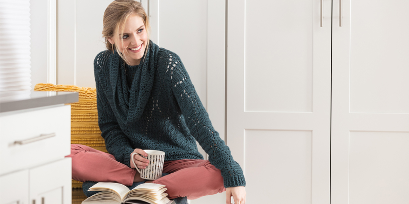 bookworm sweater & cowl set
