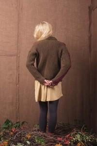 Back of Boston Ivy Crochet Sweater
