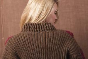 Boston Ivy Sweater Crochet Ribbed Collar