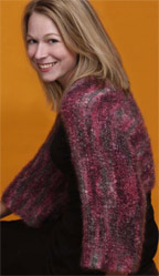 Easy Free Knitting Patterns: Women's Knitted Shrug Pattern