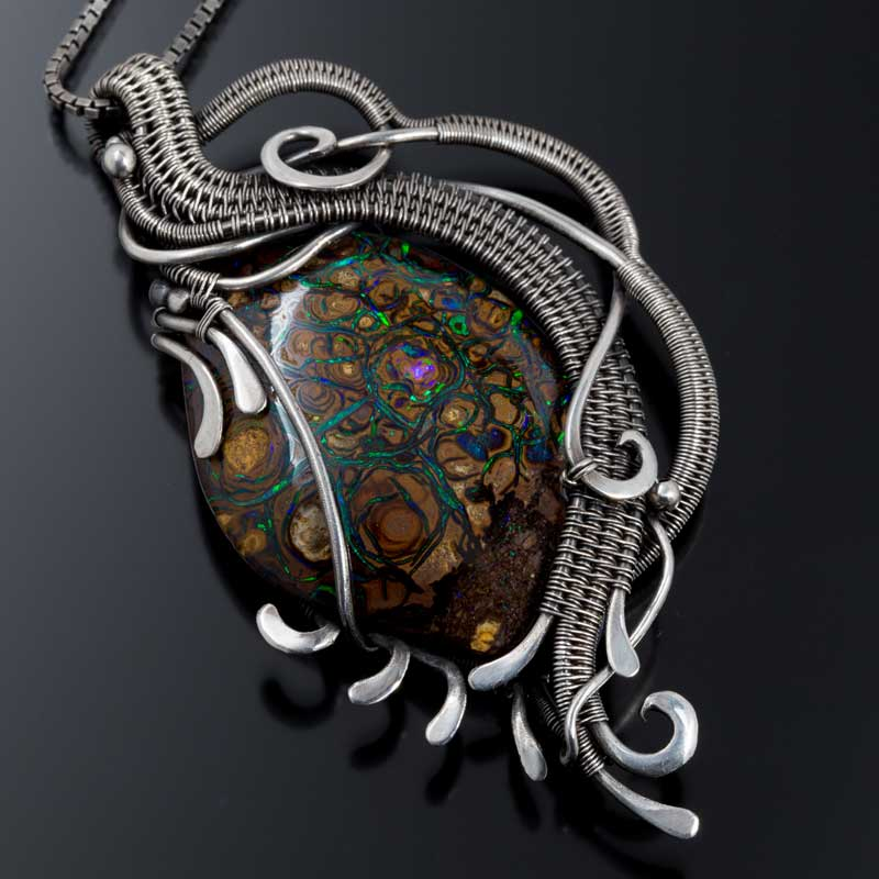 Boulder Opal pendant by Sarah Thompson