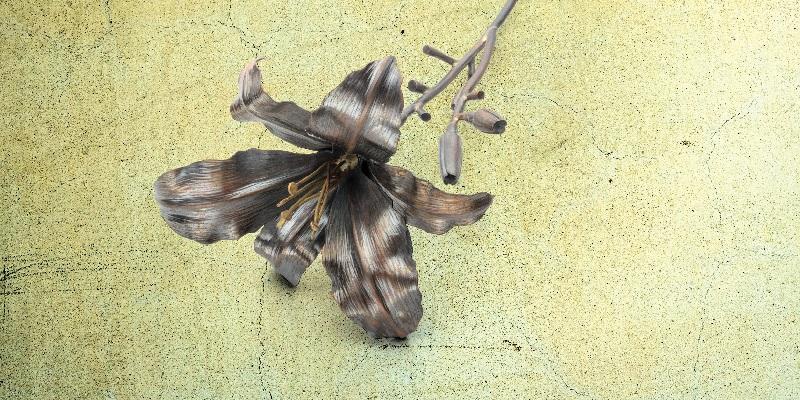 metalsmithing: Metal Daylily Sculpture by Brad Nichols,