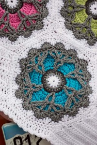 Bright Blooms Afghan Close Up (2)