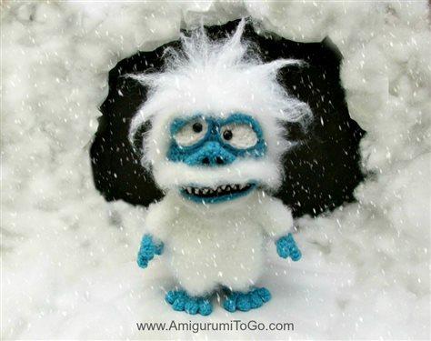 Amigurumi Snowman : The abominable snowman amigurumi stop animation film interweave