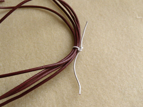 Bundle-of-leather-cord-tied