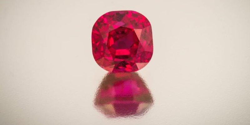 gemstones: Imagine your world is mostly stone gray and mud brown and suddenly, you see a ruby like this 2.72 Burmese. It might well lift your spirits and give you some momentary relief from pain or illness. Might you then believe it could heal you? Photo Mia Dixon, courtesy Pala International.
