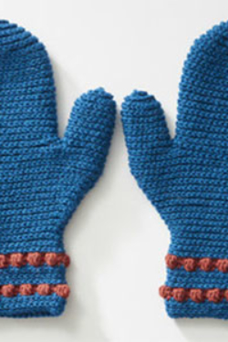 Busy Bobbly Mittens
