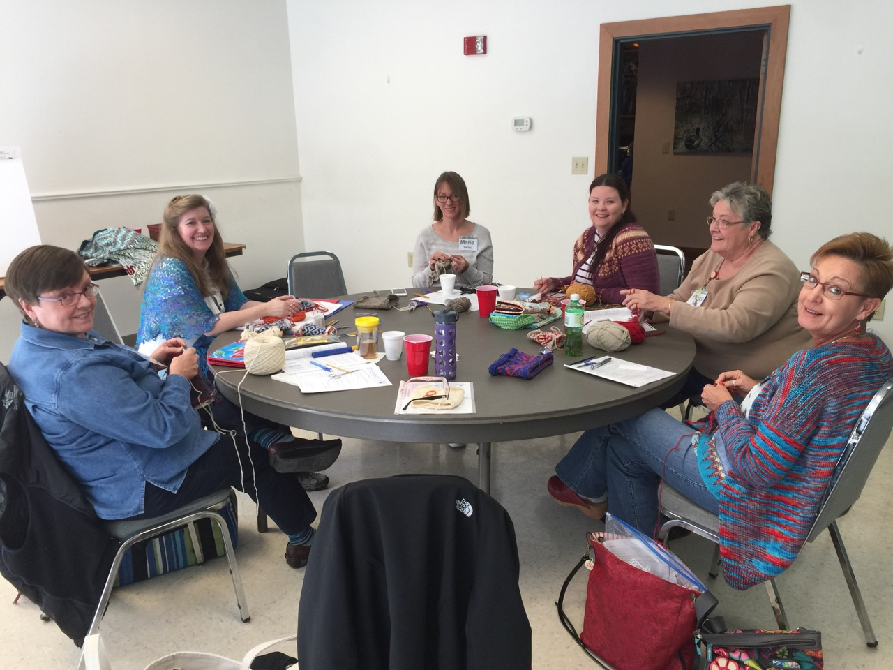 Heather Storta taught several knitting workshops at CFF. Photo: Jan Smiley.