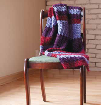 Featuring a meditative stitch pattern, the Crochet a Hug project, found in our free 5 Free Shawl Patterns eBook, is a great crochet pattern to complete.