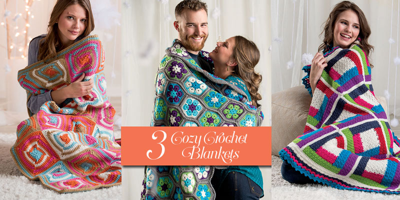 3 Cold Weather Crochet Blankets to Bundle Up In