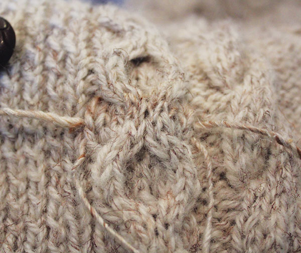 darning and repairing cables