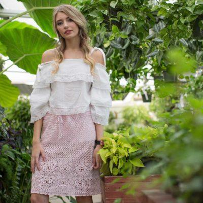 cactus flower skirt