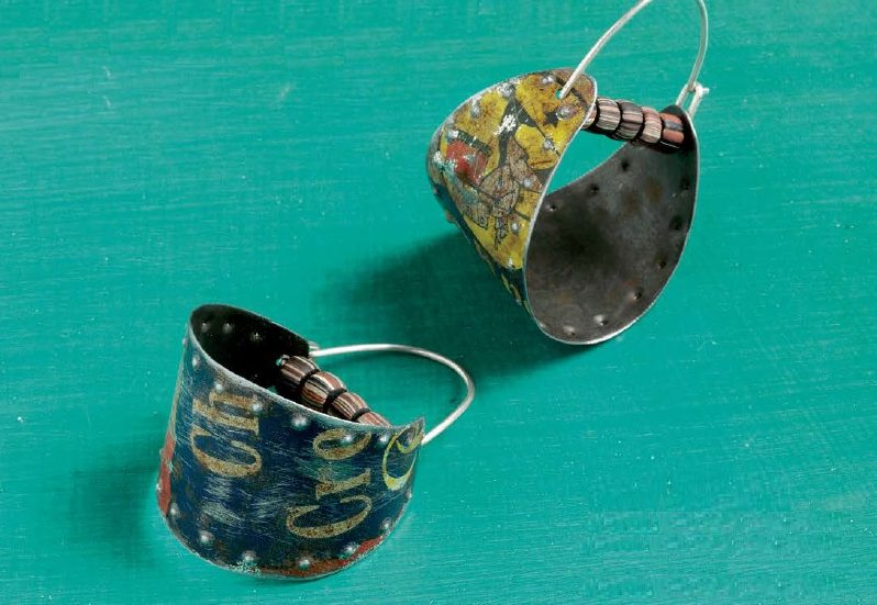 Calliope earrings by Denise Peck - metal jewelry from Wire + Metall by Denise Peck and Jane Dickerson