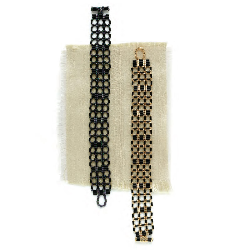 5 star pattern collection, Cane Back bracelet beading pattern