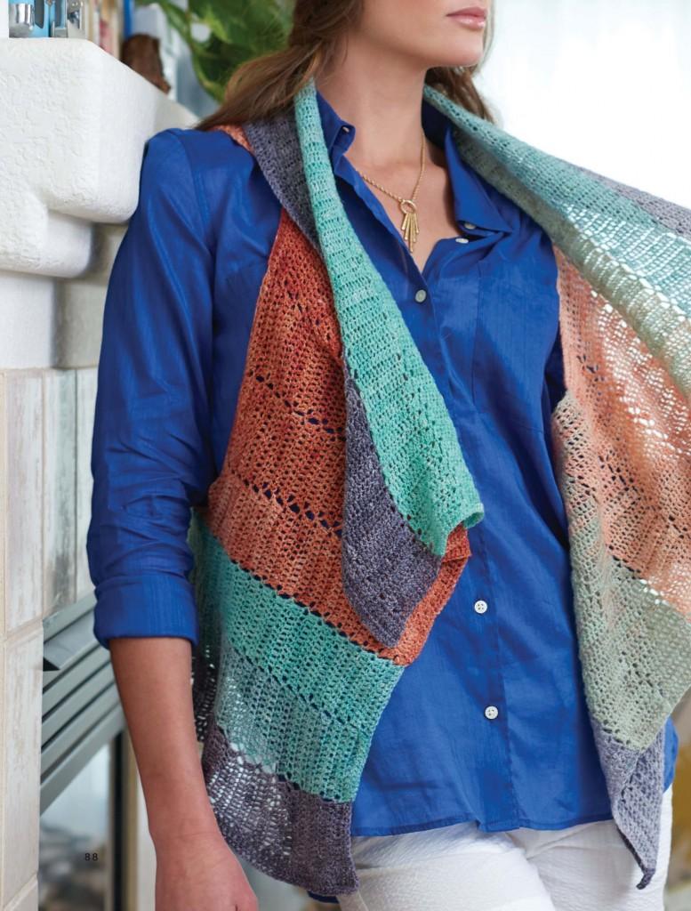 Coral Gables Cardi Crochet Wrap, Continuous Crochet by Kristin Omdahl