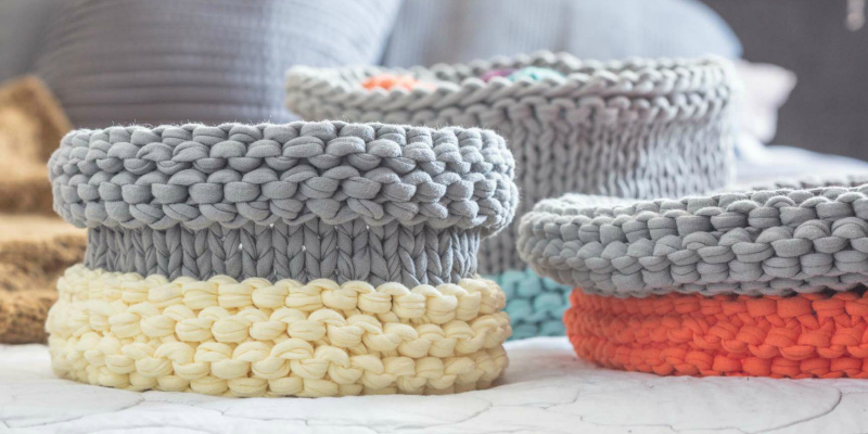 POW: Knitting the Cask Baskets