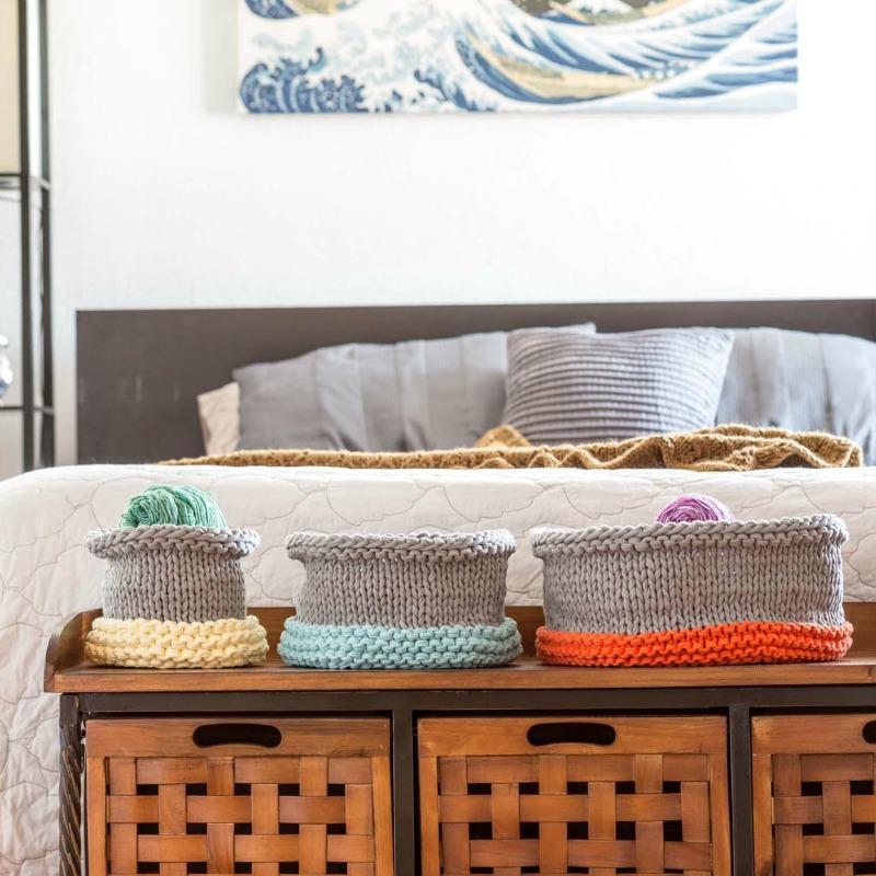 knitting baskets