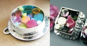 Cassie Donlen's Whimsical Silver Bezels
