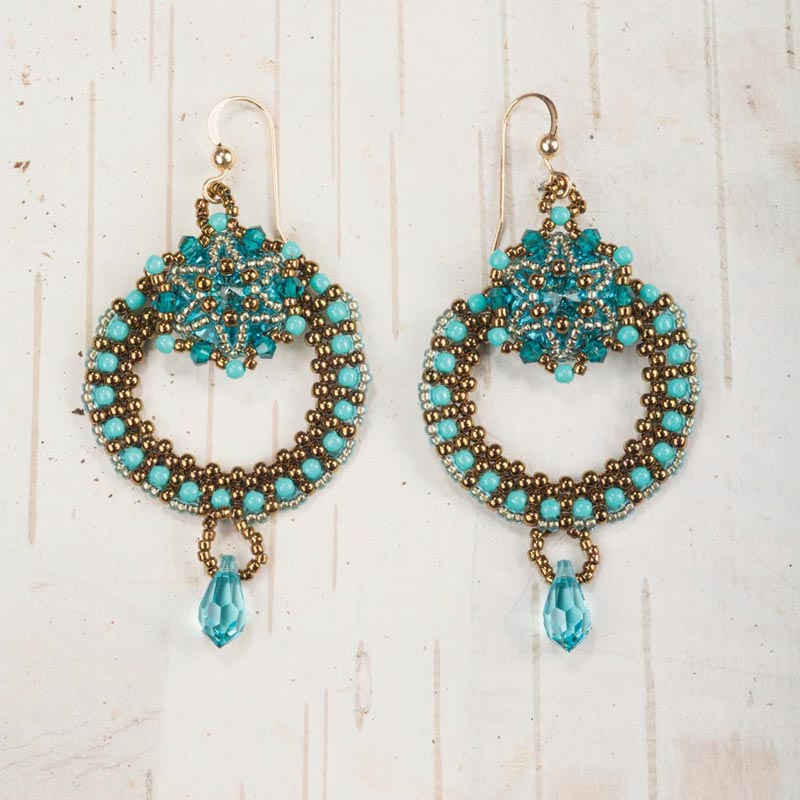 18 Luxurious Beaded Jewelry Designs with a Vintage Flair. Celestial Earrings