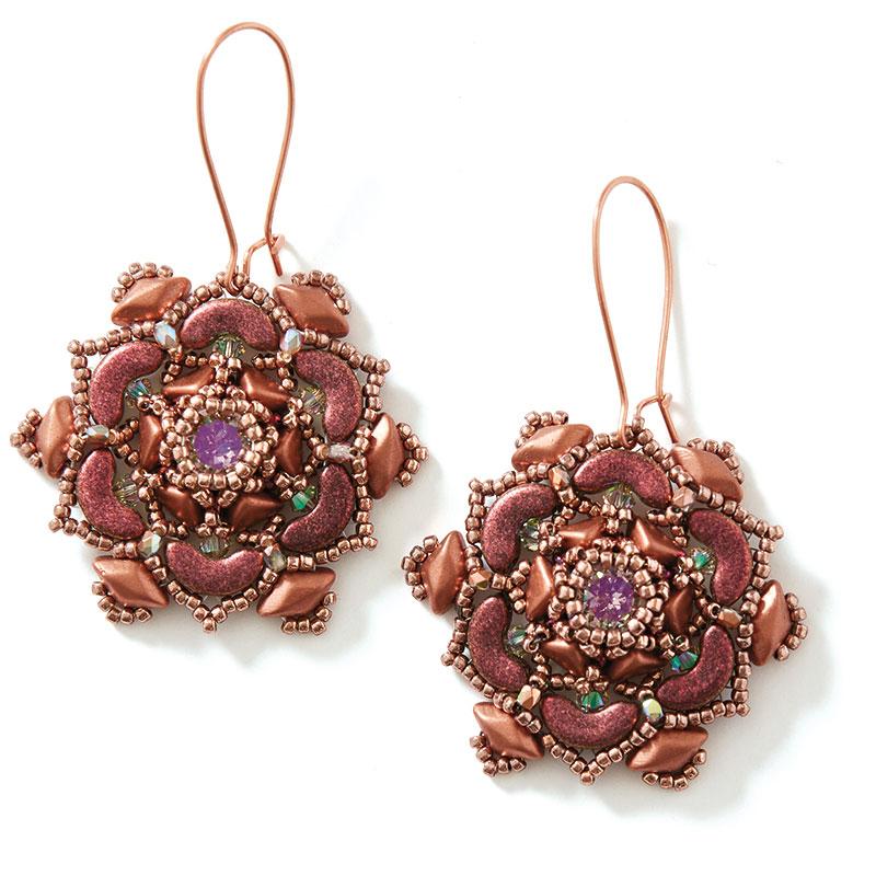Cereus Bloom Necklace copper earrings