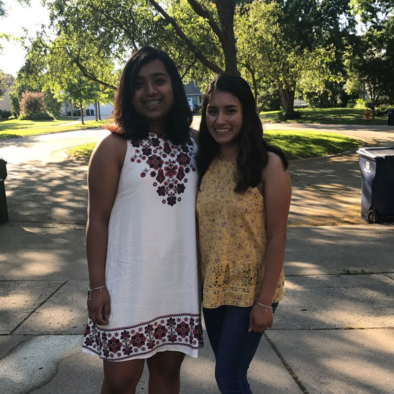 Making jewelry to raise money, Nandini Arakoni and Sanjana Gangadharan are working hard to make a difference.