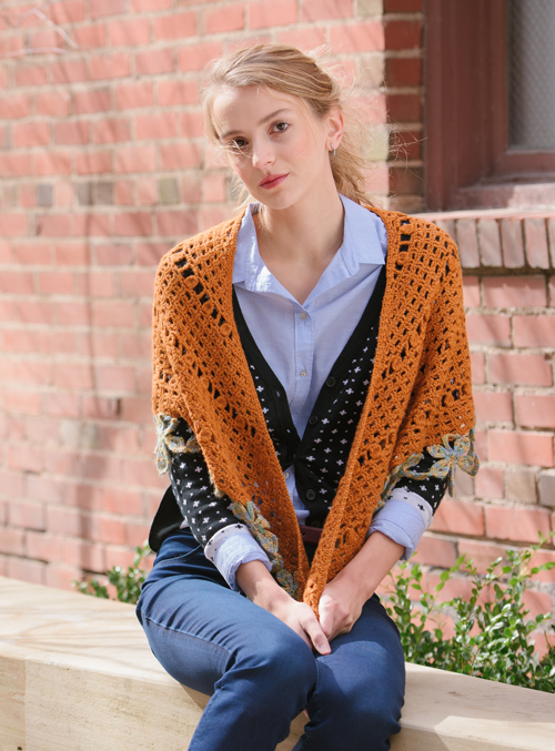 Chestnut Crochet Wrap