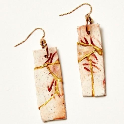 Kintsugi: Christi Friesen Art of Aging Polymer Clay Jewelry